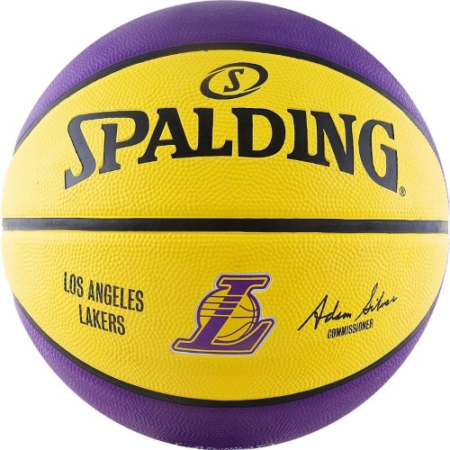 Мяч б/б Spalding NBA Team Los Angeles Lakers а.83-510z р.7 резина