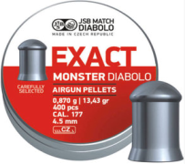 Пули пневм JSB Diabolo Exact Monster 4.5мм 400шт 0,870г